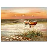 Florida Sunset by Master's Art, 24x32-Inch Canvas