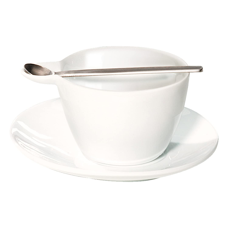 10200017 Cucchiaio ASA Multicup Tazzina da Espresso con Piattino 60 ml Bianco Porcellana // Acciaio Inox