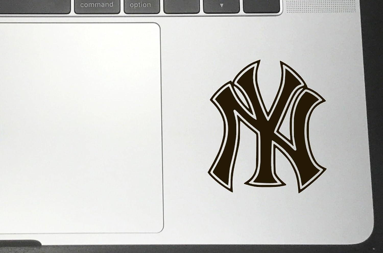 """ニューヨークヤンキースビニールステッカーデカール車のバンパーウィンドウMacbook ProノートパソコンiPad iPhone 4"""" x 3.56"""" ブラック NY_YANKEES 4\ ブラック B07631TK6H"""