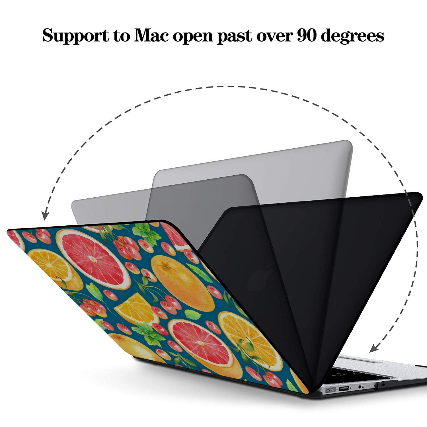 MacBook Pro 2015 Case Summer Fruit Grapefruit Green Leaf Plastic Hard Shell Compatible Mac Air 11 Pro 13 15 Mac Cases Protection for MacBook 2016-2019 Version