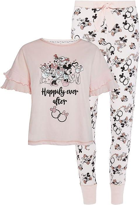 Primark Disney Ladies Women Girls Mickey /& Minnie Leggings Tshirt Pyjama Set NEW