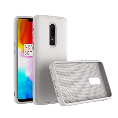 pretty nice ee914 31572 RhinoShield Case for OnePlus 6 [SolidSuit] | Shock Absorbent Slim Design  Protective Cover [3.5M/11ft Drop Protection] - Classic White
