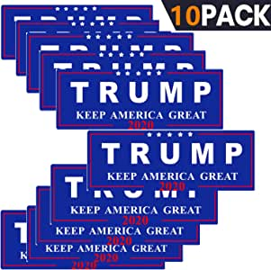 Blue/&Red SBB 3pcs President Donald Trump Keep America Great 2020 Election Patriotic Bumper Sticker 9x3 Car Auto Decal Conservative Republican