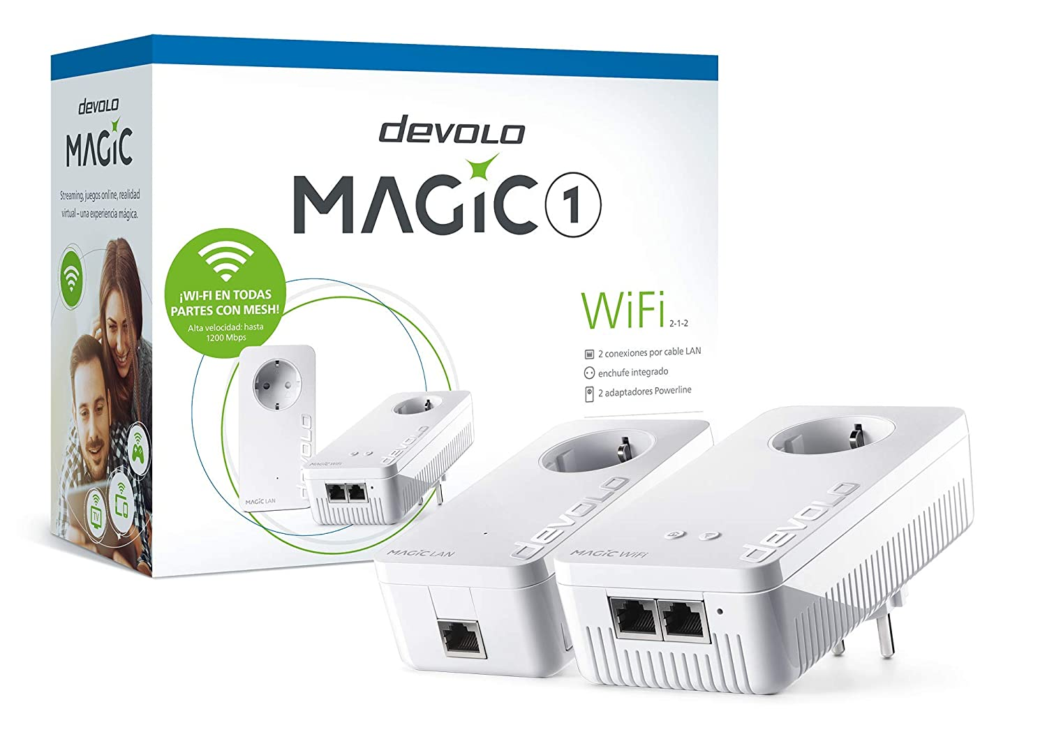 devolo Magic 1 WiFi: Kit Powerline (1200 Mbps LAN y WiFi para la Red doméstica): Devolo: Amazon.es: Informática