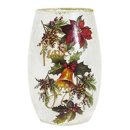 Amazon Stony Creek 7 Tall Oval Lighted Glass Vase Holiday