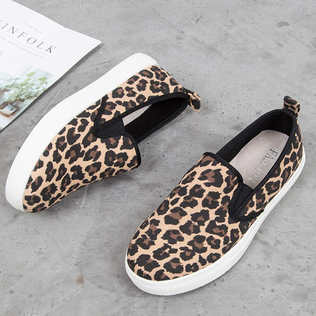 ✔ Hypothesis_X ☎ Women's Preforated Slip On Sneakers Roman Plus-Size Flat Casual Pumps Shoes Brown by ✔ Hypothesis_X ☎ Shoes (Image #4)