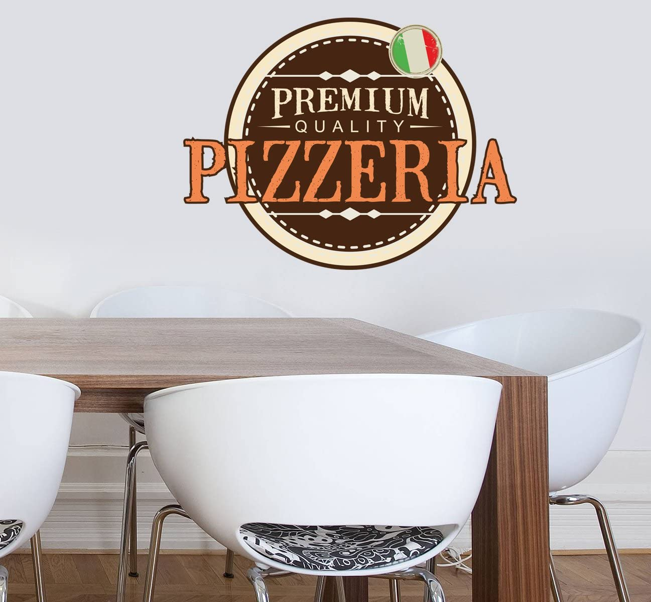 ced853 Full Color Wall Decal Sticker Pizza Food Cafe Pizzeria Restaurant
