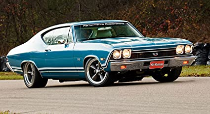 Amazon Com 1968 Chevelle Ss Muscle Car Poster 13x23 Posters Prints