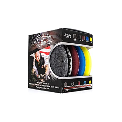 "The Rag Company Buff and Shine Reflection Artist Complete 6"" Buffing Kit QP-6RA: Automotive"