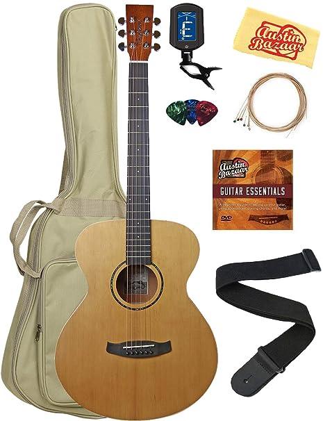 Tanglewood TWR20 Roadster paquete de guitarra acústica folk con ...