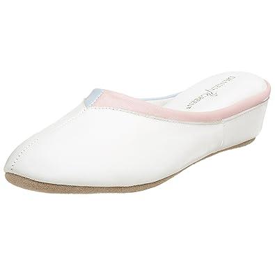 Amazon.com | Daniel Green Women\'s Vera Wedge House Slipper, White ...