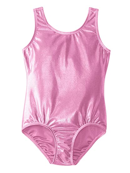4a44e3644 Amazon.com  Leotard Kid Girls One Piece For Gymnastics With Metallic ...