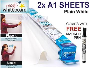 Magic Pizarra 2 X A1 hojas adhesivas (hoja) + libre marcador ...