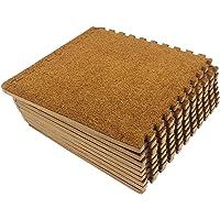 Mocosy 30 cm x 30 cm schuimrubber korte stapel in elkaar grijpende vloermatten (9/18 st.)