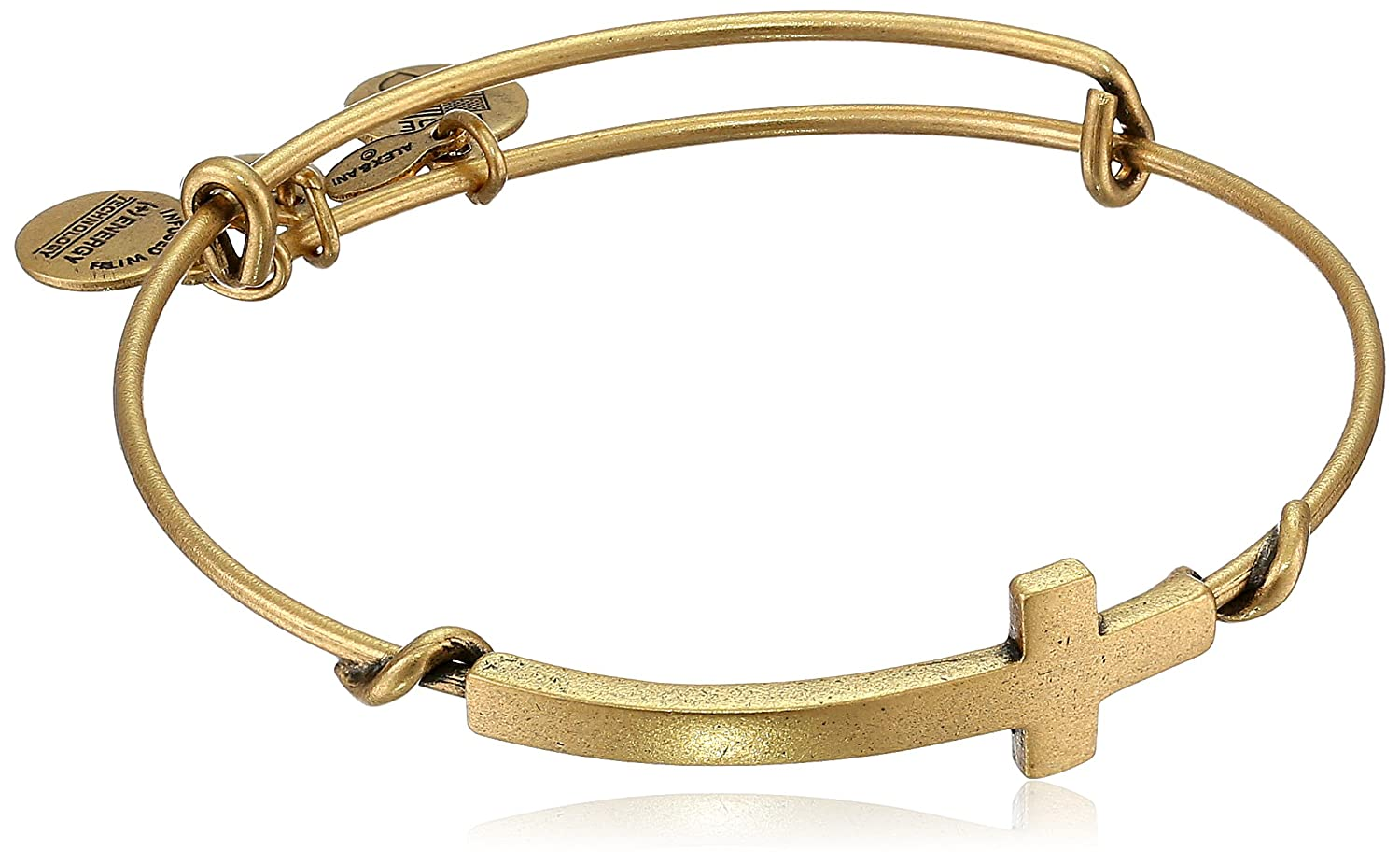 Alex and Ani Spiritual Armour Cross Expandable Wire Bangle Bracelet, 7.75