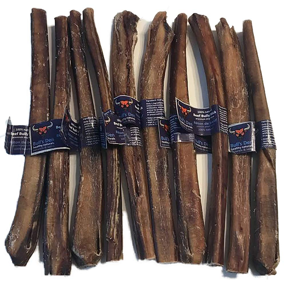 Organic & Natural Bully Sticks 10-11  Supreme (10 Pack) 600g Free Range, Grass-fed Beef, Free of Any Hormones, antibiotics or additives