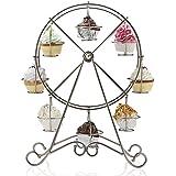 Home-X Rotating Ferris Wheel Cupcake and Dessert Server, for 8 Cupcakes