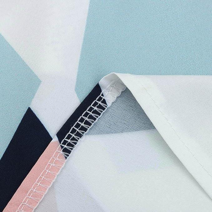Camisa de Manga Larga para Mujer Moda Blouses del Sexy Impresión Geométrica Blusa Casual Tops Estampados Camiseta Camisa Pulóver Cuello en V: Amazon.es: ...