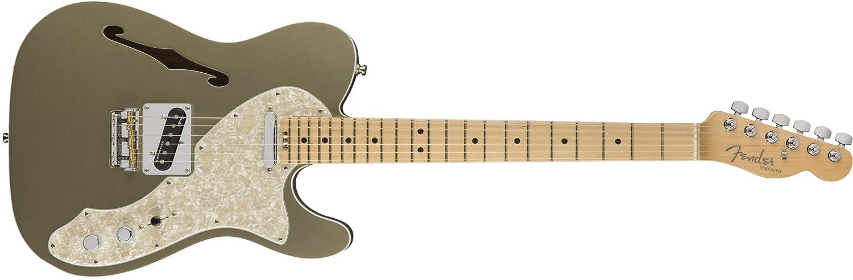 100 %品質保証 Fender Metallic エレキギター American Jade Elite Telecaster® Thinline, シャンパン Maple Fingerboard, Satin Jade Pearl Metallic B075HPLMXS シャンパン シャンパン, アラモードキムラ:b1e79b8d --- nobumedia.com