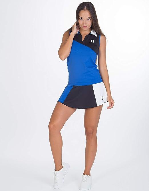 a40grados Sport & Style, Polo PIM, Azul-Negro, Mujer, Tenis y Padel (Paddle): Amazon.es: Deportes y aire libre