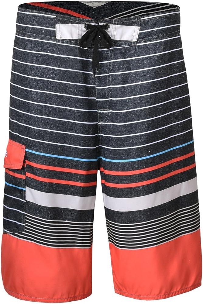 Ling Lake Colors Mens Beach Shorts Board Shorts Summer Swim Trunks