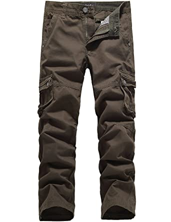 SSLR Men's Casual Multi-Pocket Long Cargo Pants at Amazon Men's ...