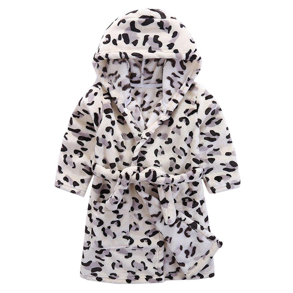 Vine Kids Bathrobe Hooded Nightgown Cute Pajamas Flannel Sleepwear Robes Loungewear Vine Trading Co. Ltd K180704YP002V