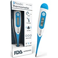 Best Digital Medical Thermometer - Fast Readings in 10 Seconds - Baby Rectal Thermometer - Oral Thermometer - DTR-1221-BLU by iProvèn - with Fever Detection - 2018 High Quality