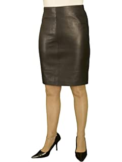 874d642dc4e43 Ashwood for Tout Ensemble Black Luxury Leather Pencil Skirt (Above-Knee  19in Length)
