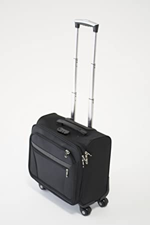 Cabina con ruedas para ordenador portátil de maleta maletín piloto maleta trolley bolsa de viaje Travel Negro negro: Amazon.es: Electrónica