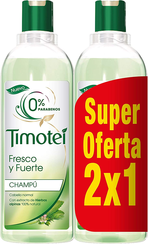 Timotei Champú 2 en 1 Hierbas Fresco y Fuerte - 400 ml
