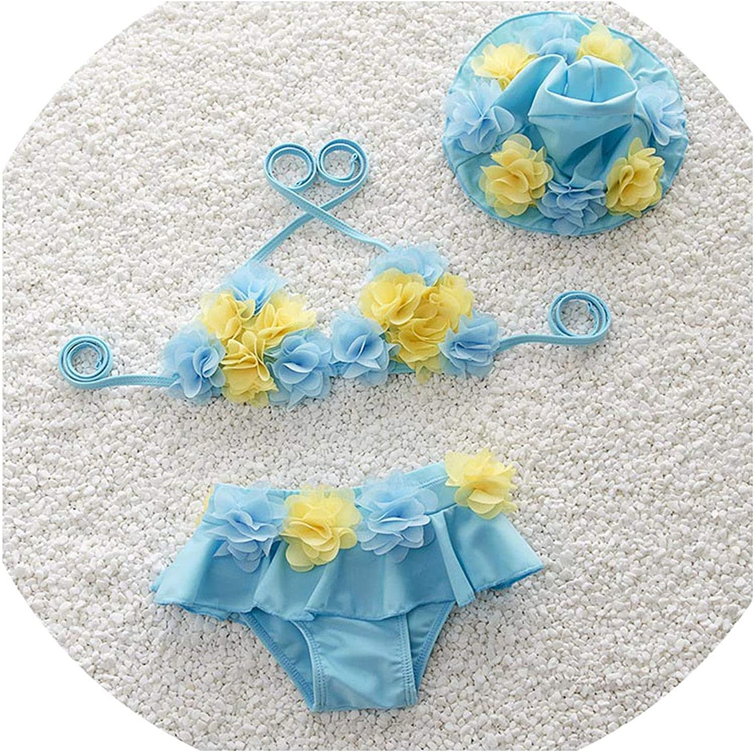 Cute Baby Little Girls Bikini Swimsuit Bathing Suit Girls Floral Baby Girls Two Pieces Suits Children