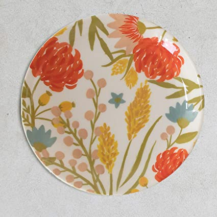 Cyahi - Carnations - Wall Plates Ceramic Decor with Hook for Hanging. 7