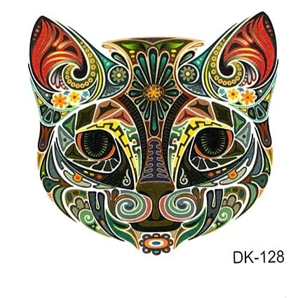 Just Fox – temporäres Tattoo gato cat la Catrina: Amazon.es: Belleza