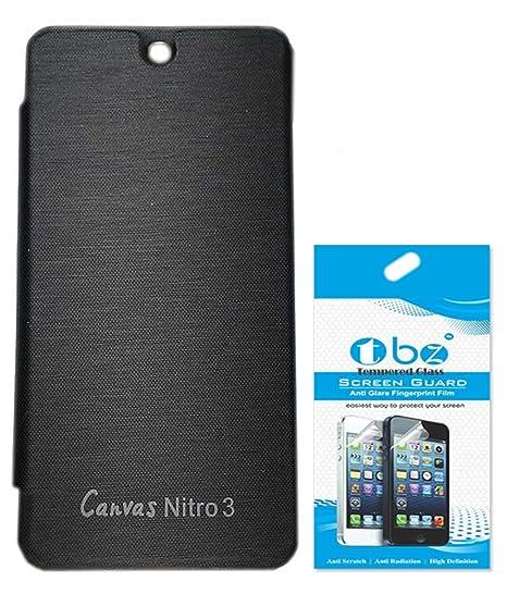 the best attitude 30bc8 ec41d RRTBZ Flip Cover Case for Micromax Canvas Nitro 3 E455: Amazon.in ...