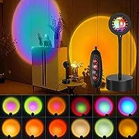 Sunset Lamp, IR 12 Colors Sunset Projection Light LED Night Light, 360 Degree Flexible Rotation 10 Dimming Level…