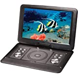 "Lenoxx 15.4"" Swivel Portable DVD Player Car Charger/USB/Remote/Built-in Battery"