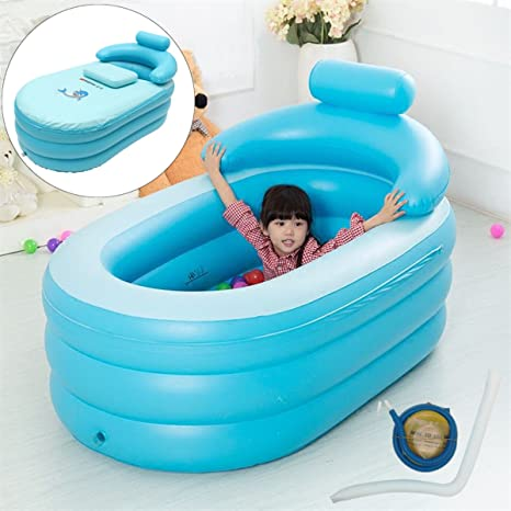 Portable Adult Bath Tub PVC Portable Spa Warm Bathtub Inflatable Air Pump  USA
