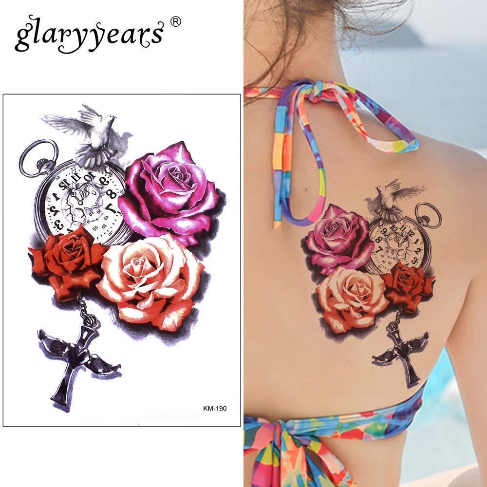 tzxdbh 5 Unids Glaryyears 15 * 21Cm Etiqueta Engomada del Tatuaje ...