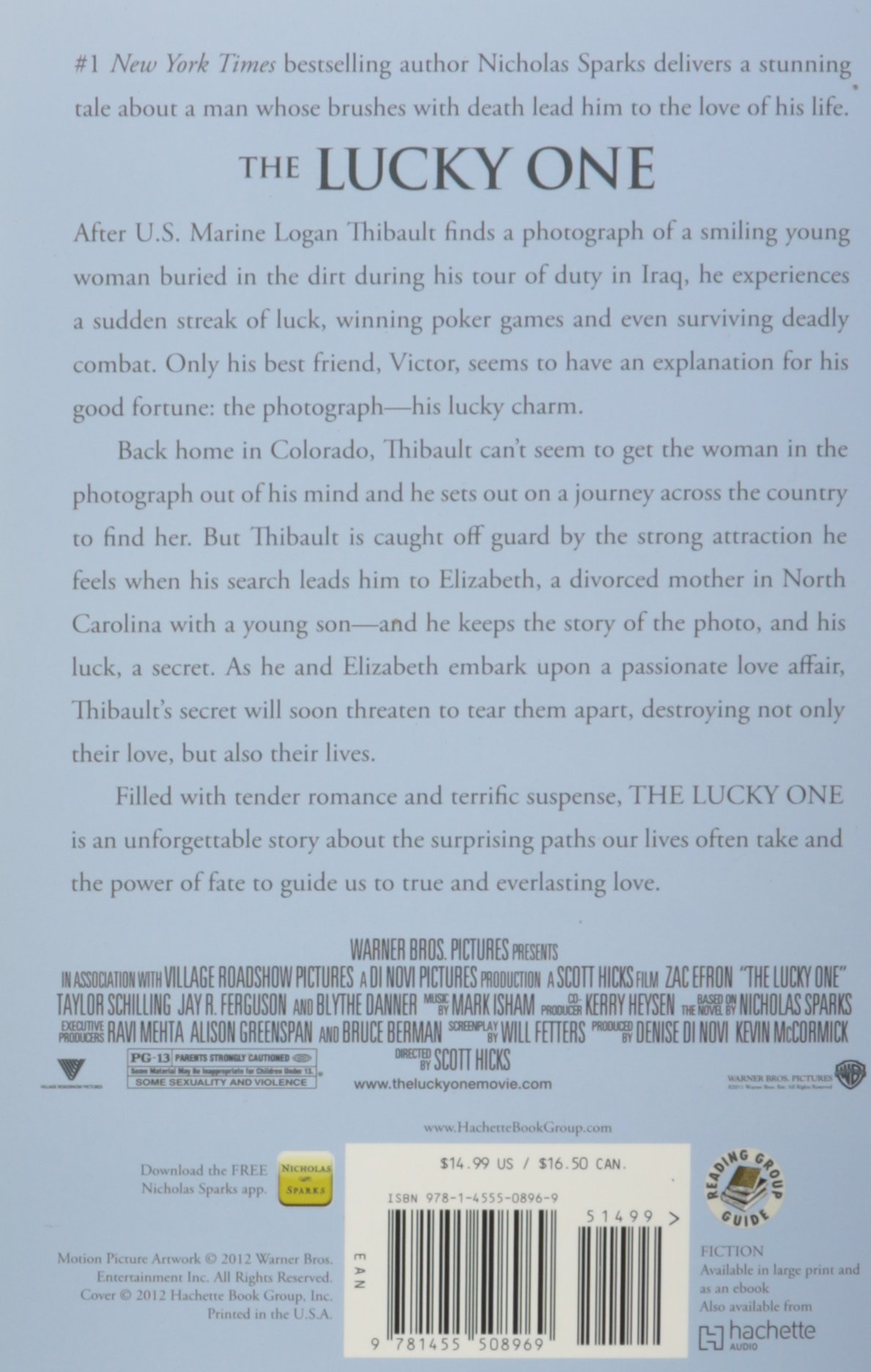 The Lucky One Nicholas Sparks Book Pdf