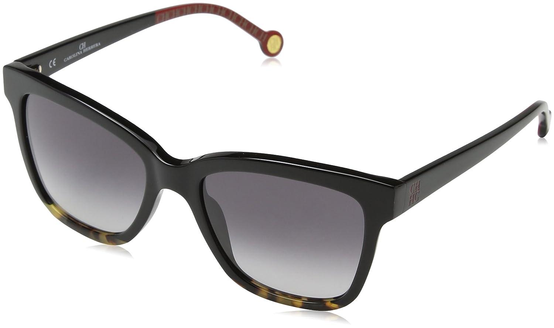 Carolina Herrera Mujer SHE744 Gafas de sol, Negro (Shiny Black)