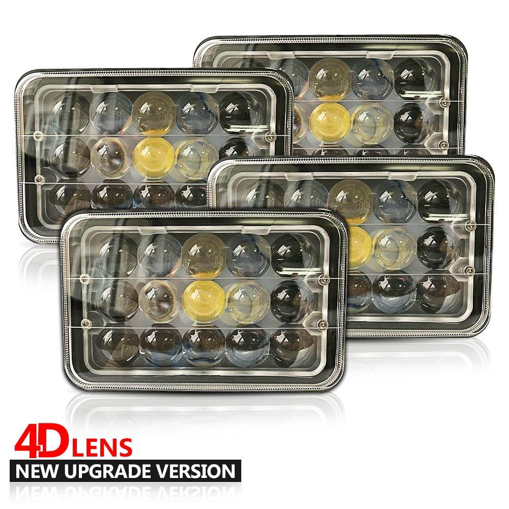 4pcs 4d Fish Eyes Square Led Light John Deere 9100 9200