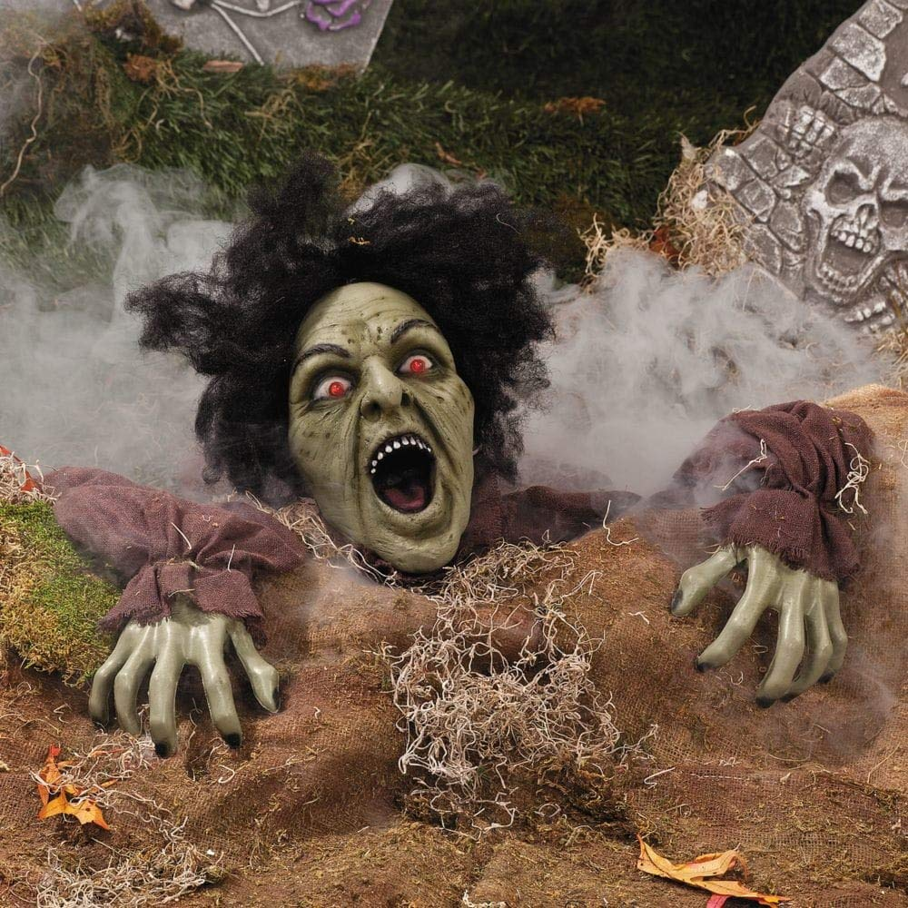 Climbing Zombie Ground Breaker with Sound and Flashing Eyes - Halloween Decorations by Fun Express