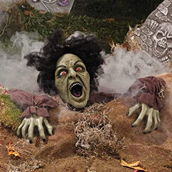 amazon com clawing zombie groundbreaker with led eyes halloween