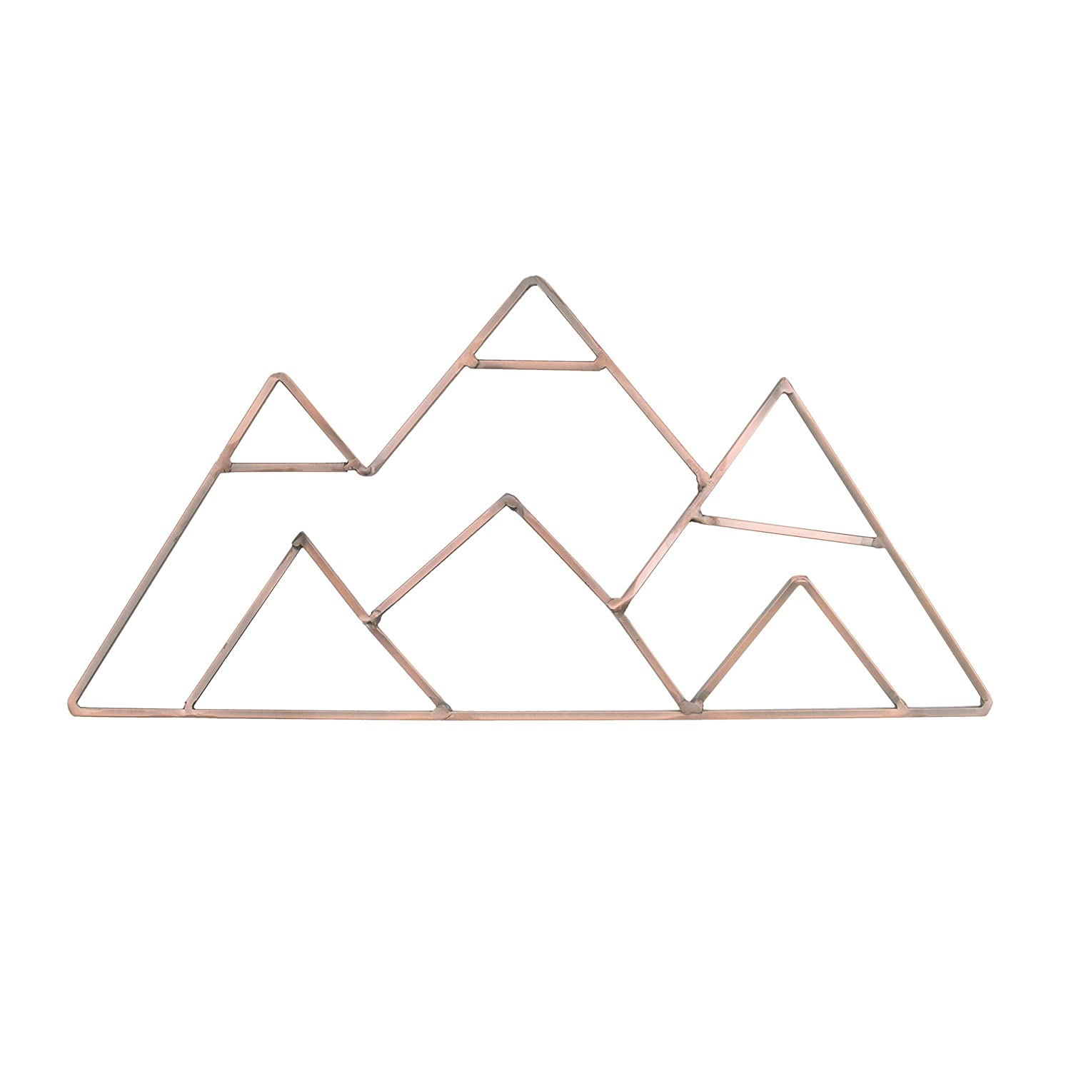 NoJo Mountain Shaped Wire Nursery Wall Decor, Finish, Copper, Mountain Shaped - Copper Finish (3098961P)