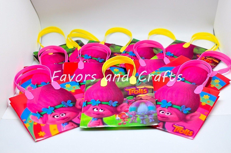 Dream works Trolls 12 Pcs Goodie Bags Party Favor Bags Gift Bags Birthday Bags by Dream Works