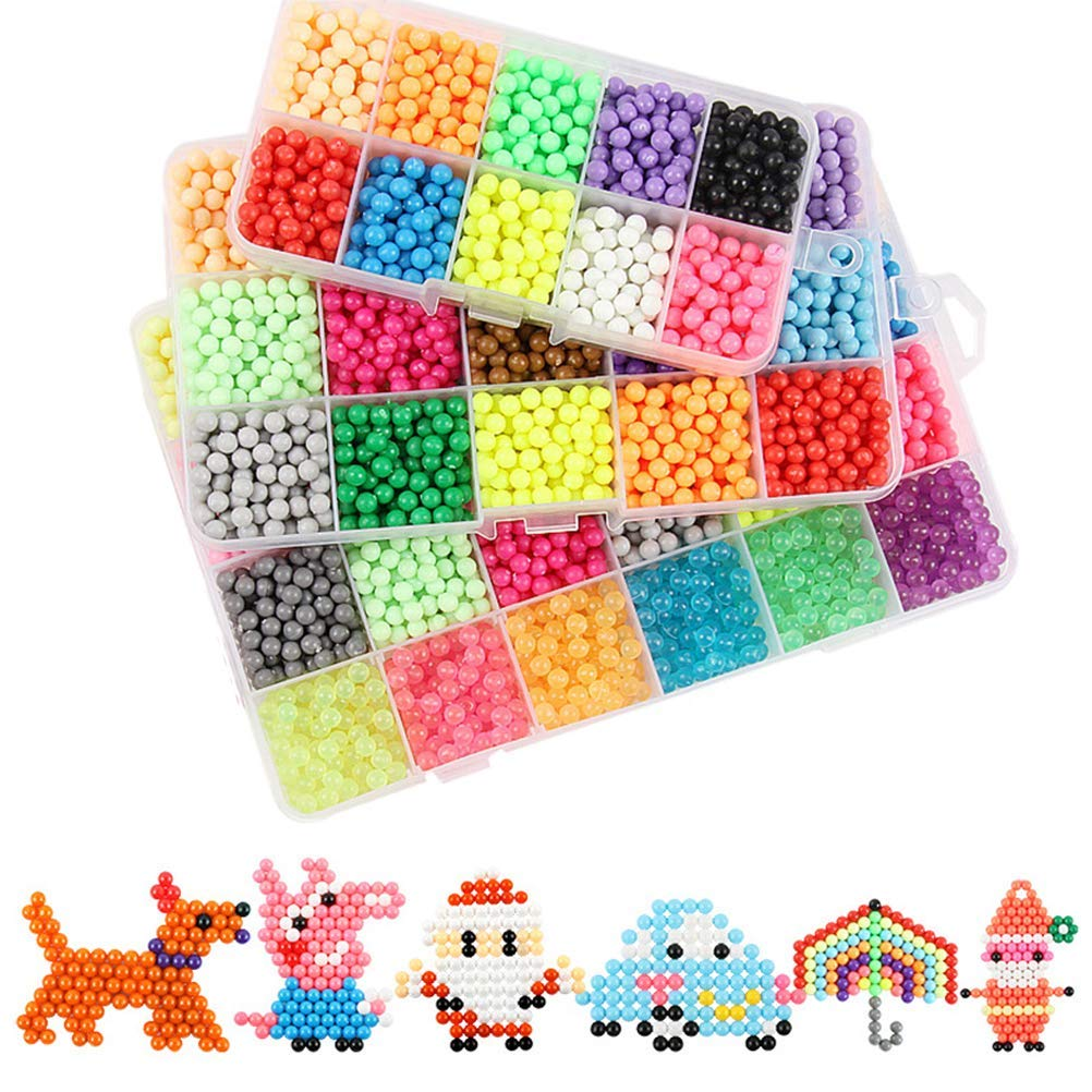 Uspacific 19 Different Shapes of Fuse Beads Pegboards with 6 Pieces Tweezers for Kids Craft Beads 19 Pcs 5mm Fuse Beads Boards