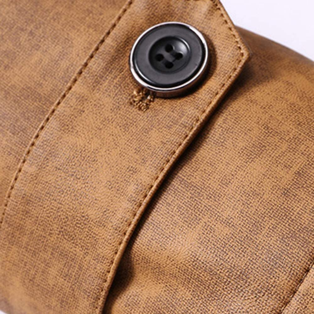 Fashion Mens Stand Collar Double-Sided Buttons Thermal Warm Jackets Coat