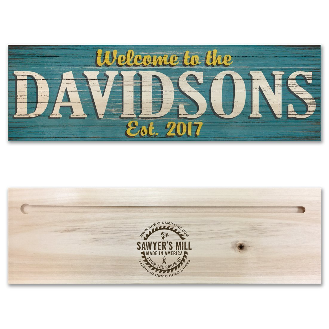 Personalized Family Name Wood Sign - Custom Made Rustic Real Wood Sign - Wedding Gift
