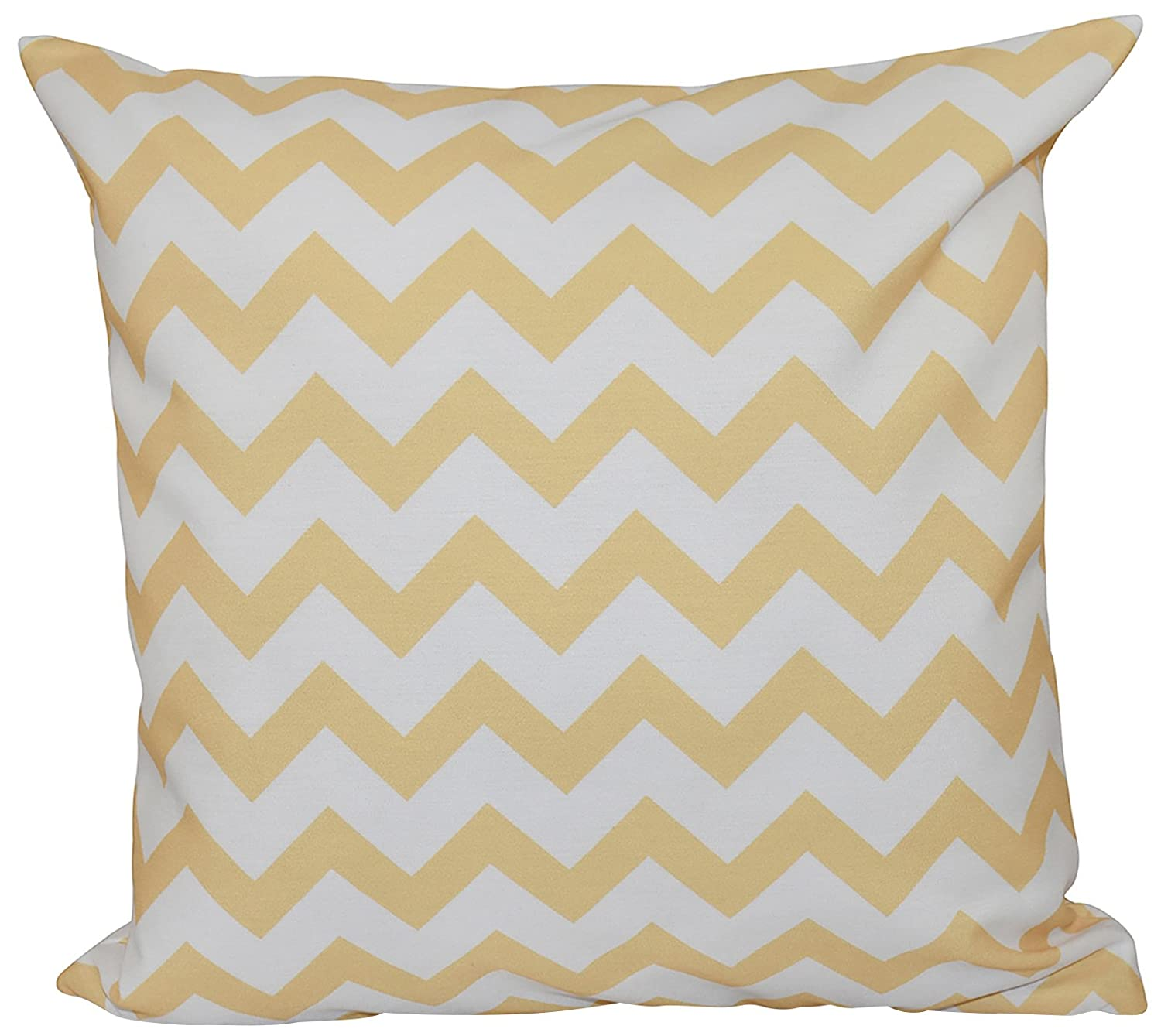 E by design O5PG-N13-Yellow-16 Printed Outdoor Pillow
